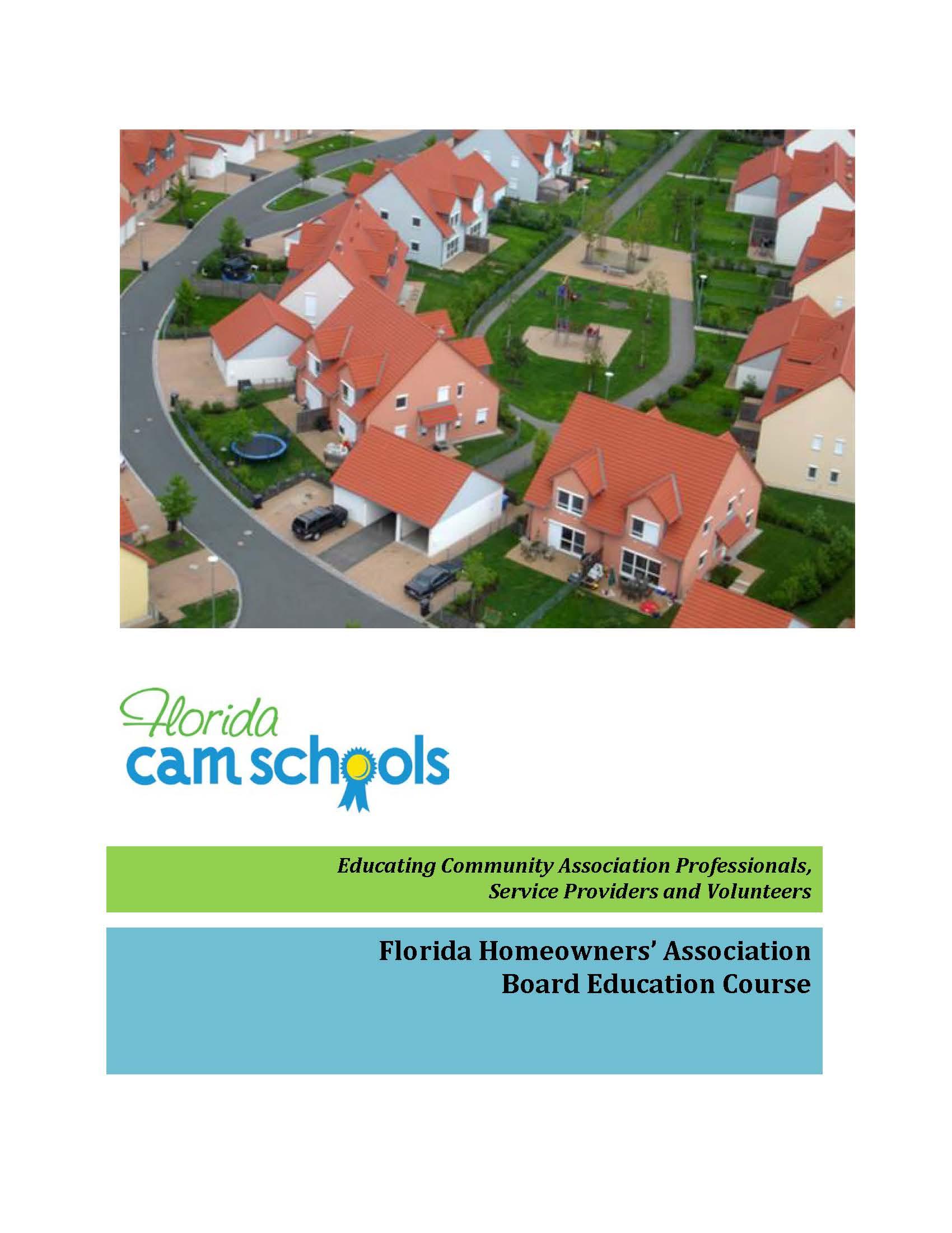 Florida Homeowners' Association Board Education Course – Self Study