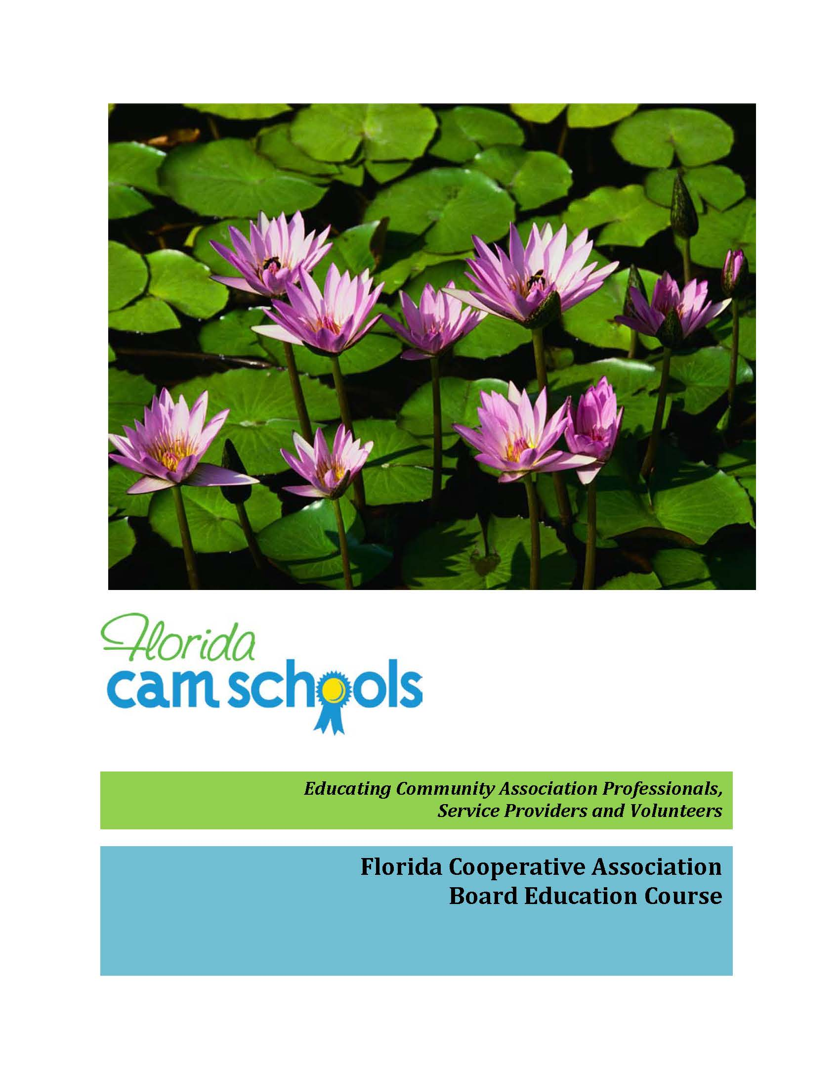 Florida Cooperative Board Education Course – Self Study