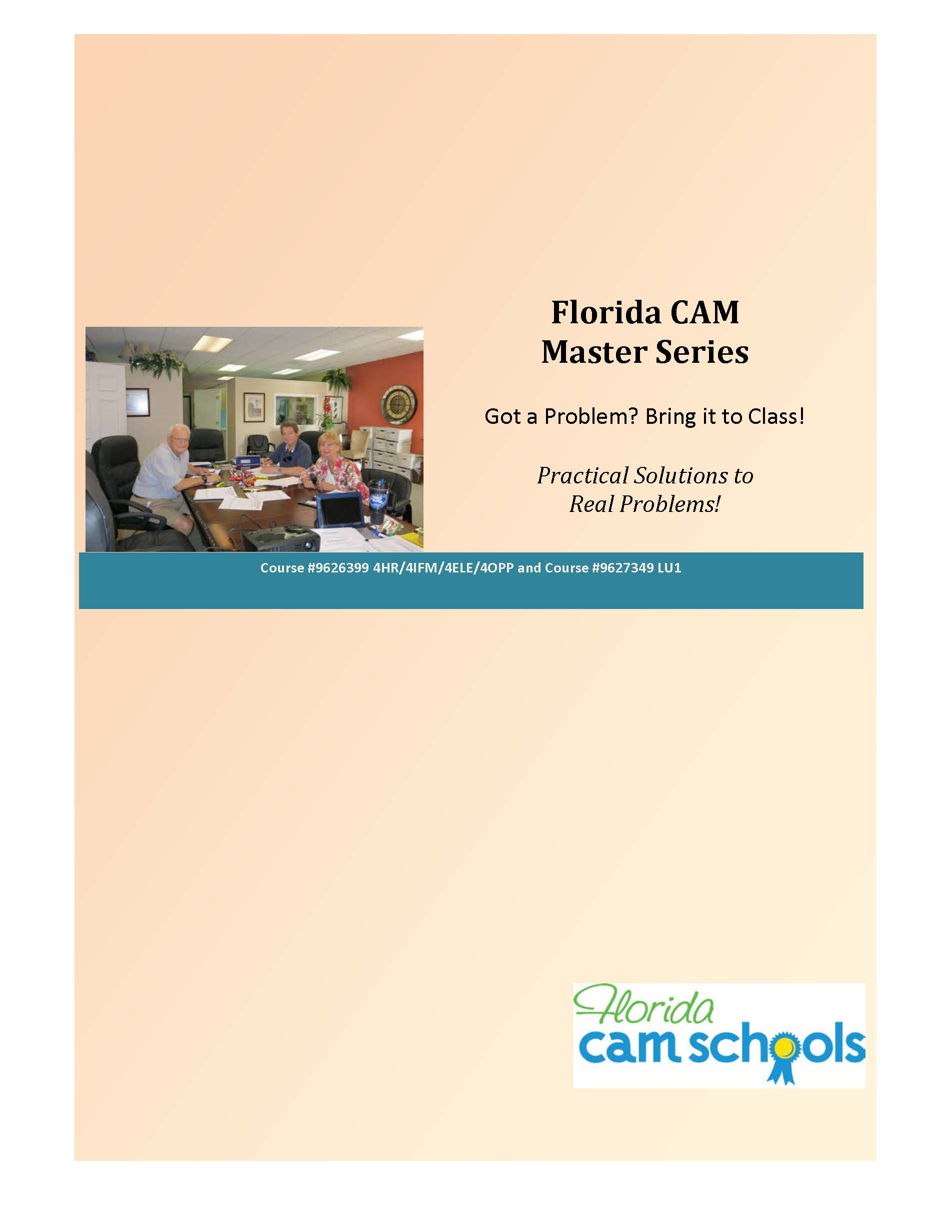 Florida CAM Master Series (manual)