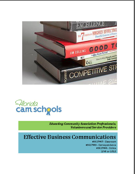 Effective Business Communications – Self Study